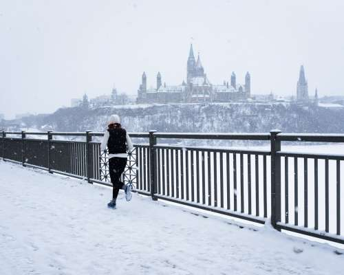 Ottawa Skyline Provides Backdrop For Running Route Photo