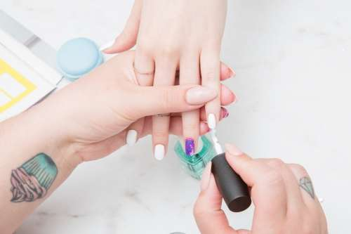 Painting Nails Photo