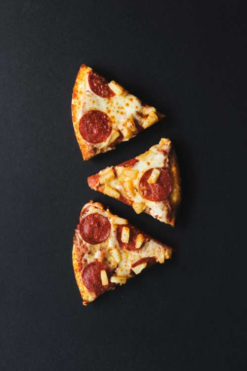 Pepperoni And Pineapple Pizza Photo