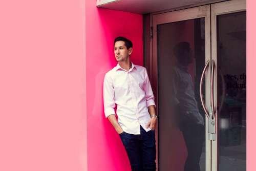 Pink On Pink Mens Fashion Photo