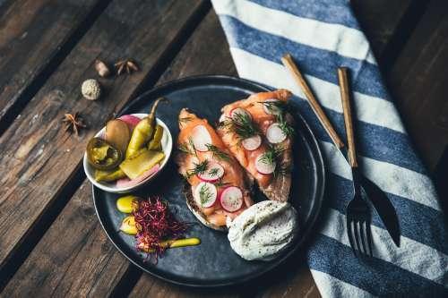Plated Smoked Salmon Photo