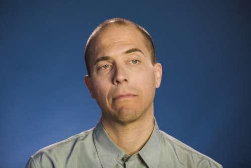 Portrait Of Man Thinking Photo