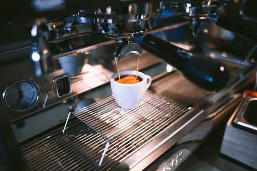 Pouring An Espresso Photo