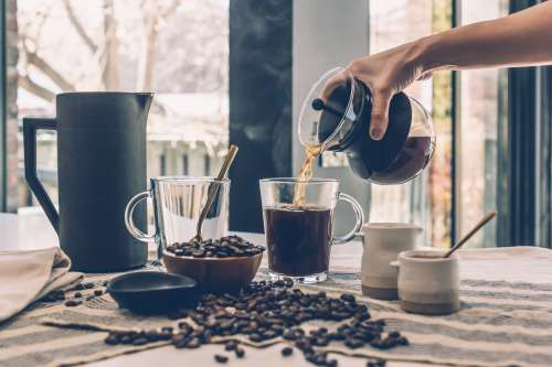 Pouring Hot Coffee Photo