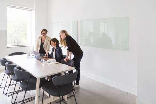 Powerful Business Women In Meeting Photo