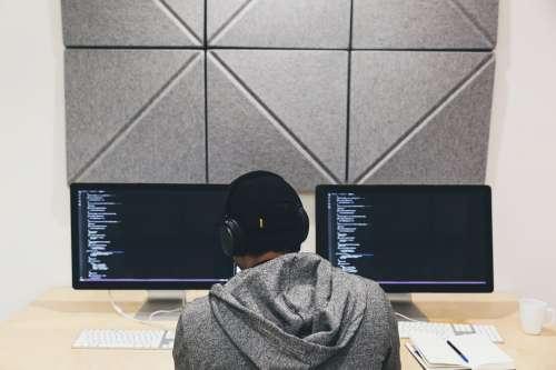 Programmer Focused On Code Photo
