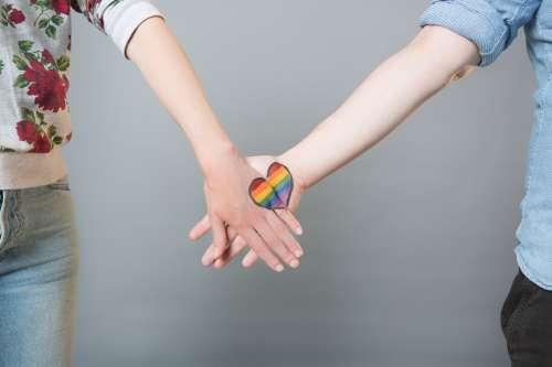 Rainbow Hands Heart Open Photo
