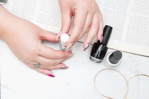 Reading Doing Fingernails Photo