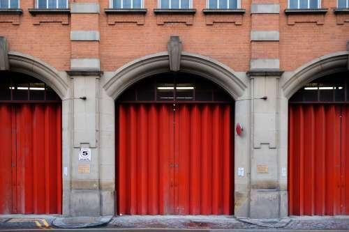 Red Garage Doors Photo