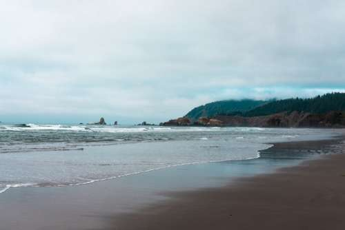 Rock Formations On Oregon Coast Photo