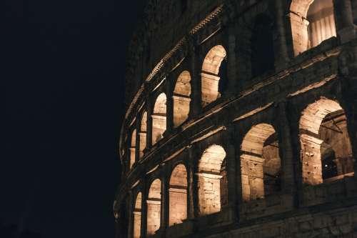 Rome Colosseum Night Photo