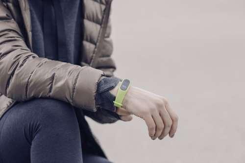 Runner Wearing Fitness Tracker Watch Photo