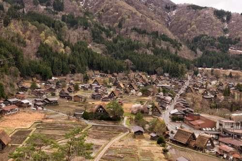 Rural Farming Village In Foothills Photo