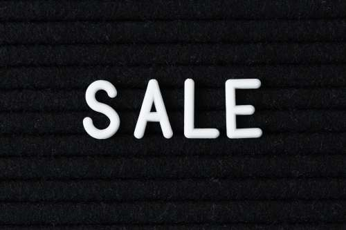 Sale Lettering Close Up Photo