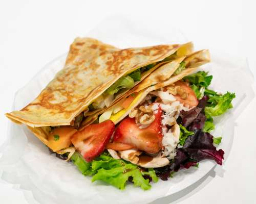 Savory Crepe With Salad Photo