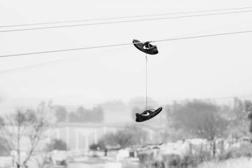 Shoes On The Telephone Lines Photo