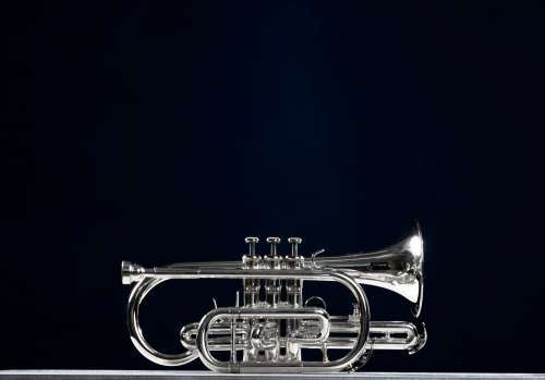 Silver Cornet Musical Instrument Photo