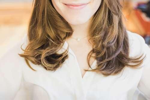 Smiling Brunette Woman Photo