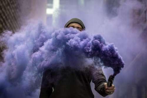 Smoke Mask Photo