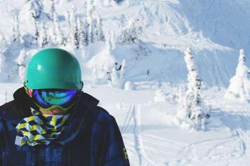 Snow Boarder On Snowy Mountain Photo