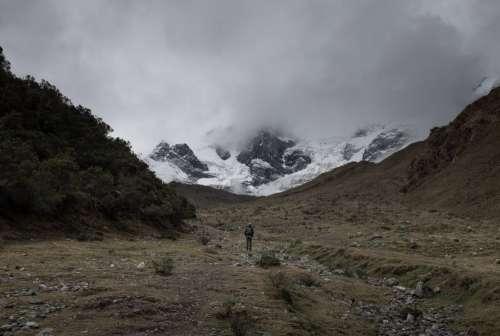 Snowy Machu Picchu Peaks Photo