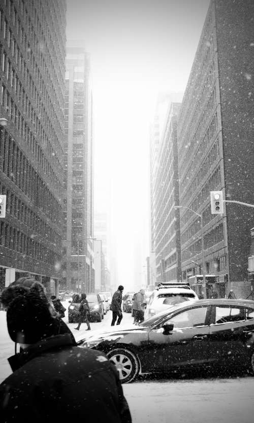 Snowy Winter City Photo