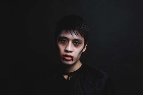 Spooky Vampire For Halloween Photo