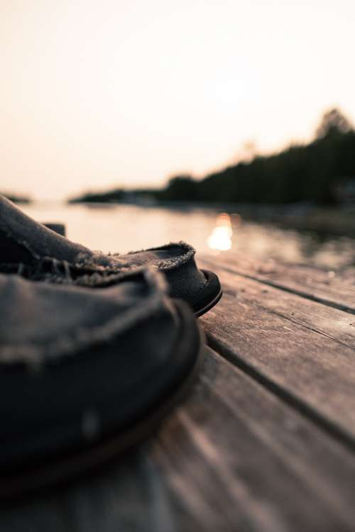 Standing On A Dock Close Up Photo
