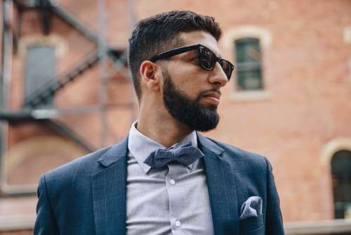 Stylish Man In Bow Tie Photo