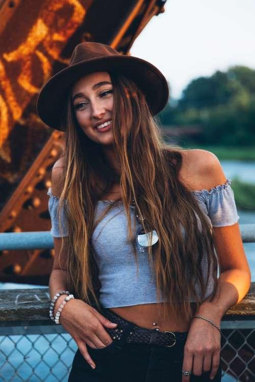 Stylish Woman Smiling Photo