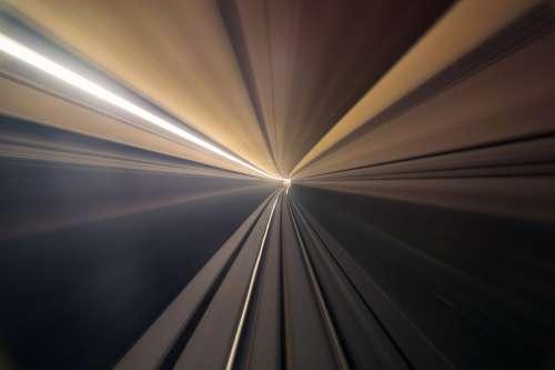Subway Tunnel Speed Vortex Photo