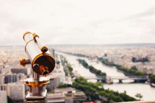 Telescope Over Paris Photo