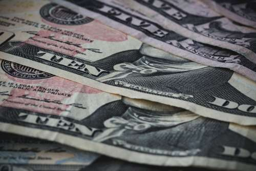 Ten Dollar Bills Close Up Photo