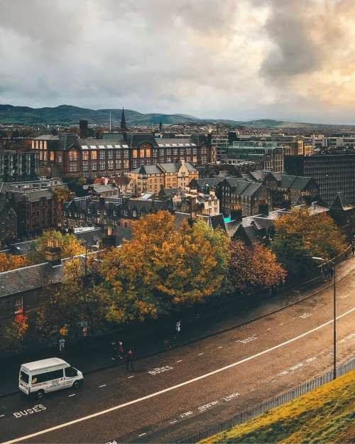 The European Cloudy City Photo