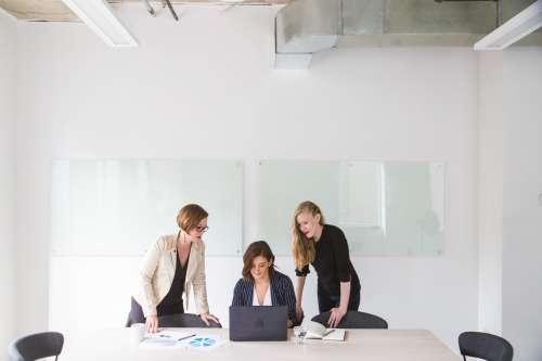Three Women In Office Photo
