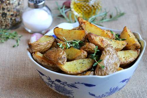 Thyme And Rosemary Potato Wedges Photo