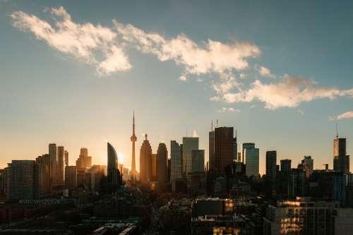 Toronto Skyline Sunset Photo