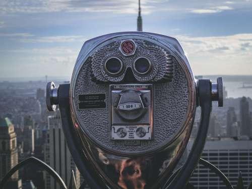 Tourist View Telescope In City Photo