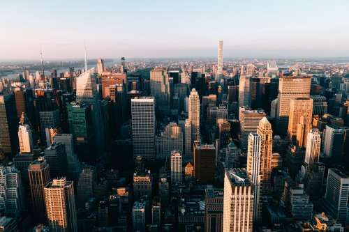 Towering New York Building From Above Photo