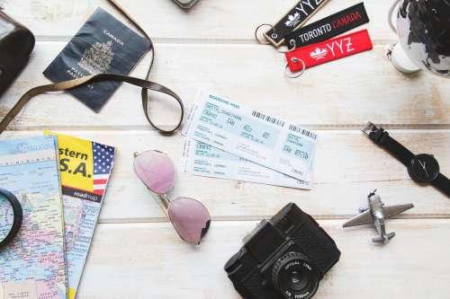 Travel Flatlay Photo