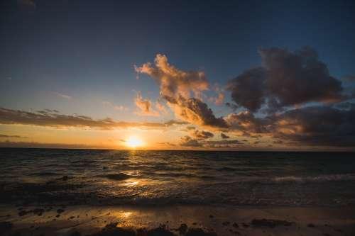 Tropical Beach Sunrise Photo