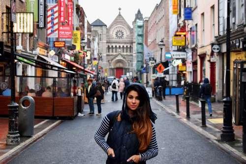 Urban Fashion On City Street Photo