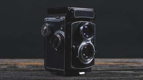 Vintage Camera Close-Up Photo
