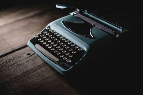 Vintage Typewriter In Shadow Photo