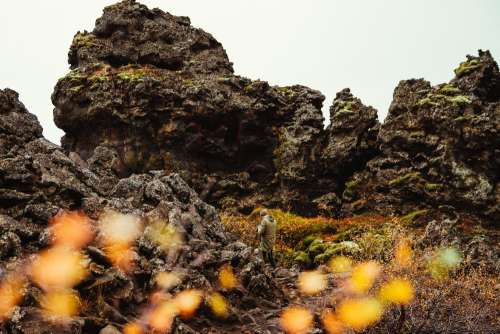 Volcanic Rock Formations Photo