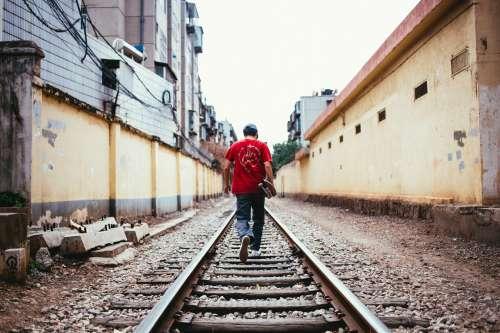 Walking The Tracks Photo