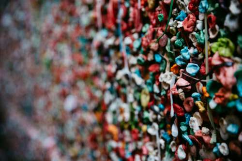 Wall Of Chewing Gum Photo