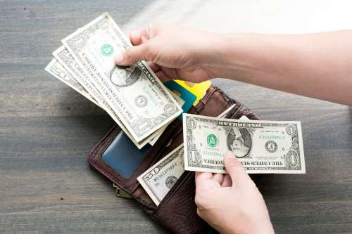 Wallet and Money Photo