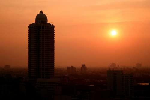 Warm Sun Over Sleeping City Photo