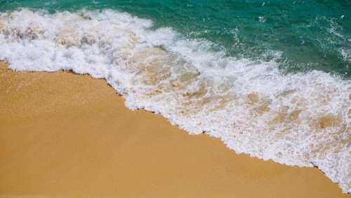Waves Crashing On Beach Photo